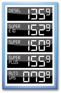 Der Wert 92 Benzine tschita